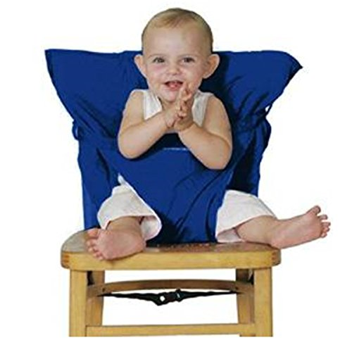 Aisi? Infant Baby Travel High Chair Seat Cover, Portable Easy Seats (Dark Blue) (Totseat Chair Harness compare prices)