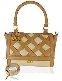 I Define You Cream & Brown Color Women's Shoulder Bag