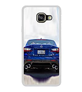 Luxury Blue Car 2D Hard Polycarbonate Designer Back Case Cover for Samsung Galaxy A3 (2016) :: Samsung Galaxy A3 2016 Duos :: Samsung Galaxy A3 2016 A310F A310M A310Y :: Samsung Galaxy A3 A310 2016 Edition