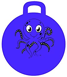 MegaFun USA Inflatable Jumping Ball Octopus, Purple, 18 Inches Tall