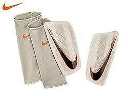 Nike Mercurial Lite Shin Guard (White/Black/Orange) (S), Small/White