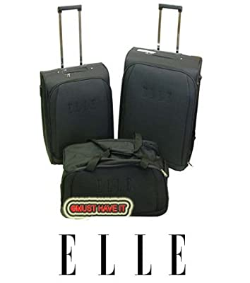 """Elle Nested 3 Piece Luggage Set 28"""" 24"""" Suitcases Set & Holdall from Elle"""