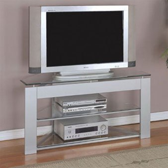 Cheap Powell Glossy Silver TV Stand 968-802 (968-802)