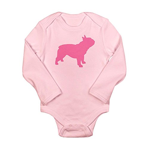 CafePress - Pink French Bulldog Long Sleeve Infant Bodysuit - Cute Long Sleeve Infant Bodysuit Baby Romper (French Bulldog Onesie compare prices)