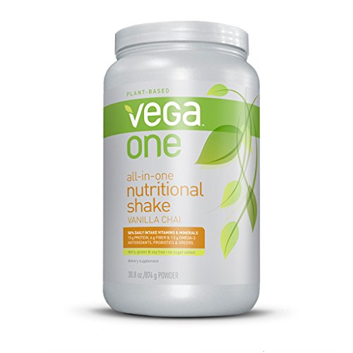 Vega One All-In-One Nutritional Shake, Vanilla Chai, Large Tub, 30.8Oz front-730135