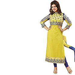 Infinity Fashions Women's Cotton Embroidered Semi-Stitched Dress Material(ifw127_Multicolor_Free Size)