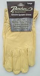 Rancher By Plainsman Genuine Goatskin Cabretta Leather Gloves LARGE