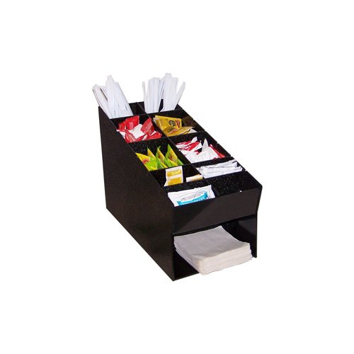 Ajb Nc 817 Condiment Organizer, With Napkin Holder, Great For Home Or Office, Coffee Or Sandwhich Condiments!