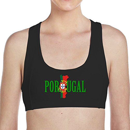 Woman Portugal 90% Nylon Seamless Racerback Sports Bras Black Medium (Infiniti Bling Emblem compare prices)