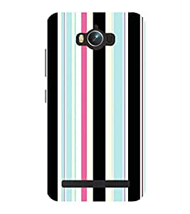 Chiraiyaa Designer Printed Premium Back Cover Case for Asus Zenfone Max (lines stripes pattern texture vertical) (Multicolor)