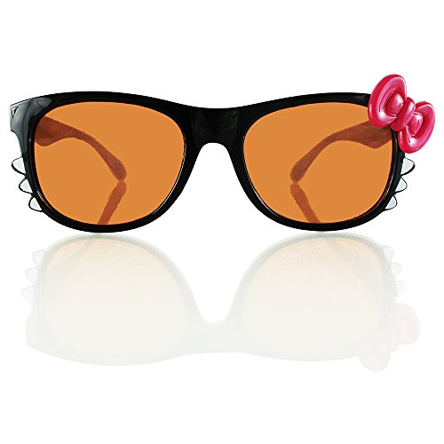 Black Kitty Amber Diffraction Glasses - Ultra Amber Diffraction Glasses - Highest Quality Diffraction Effect!