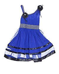 D.S. Fashion Baby Girls Frock (Blue, 18)