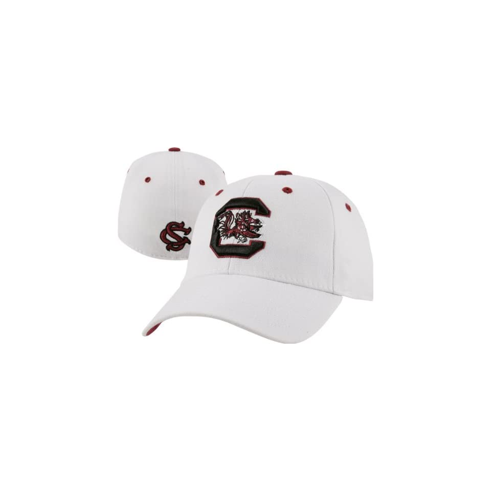 the latest f1d70 d79fc South Carolina Gamecocks White Top of the World Flex Fit Hat