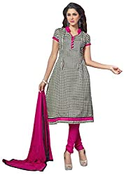 The Desi Attire Women's Bhagalpuri Silk Unsticthed Dress Material (2007_Cream_40)