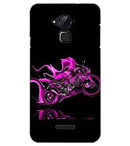 PrintDhaba CONCEPT BIKE D-6549 Back Case Cover for COOLPAD NOTE 3 LITE (Multi-Coloured)