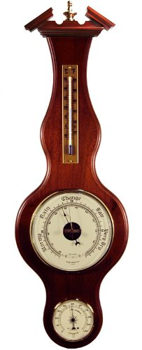Banjo Barometer Thermometer Hygrometer in Deep Cherry by West and Company