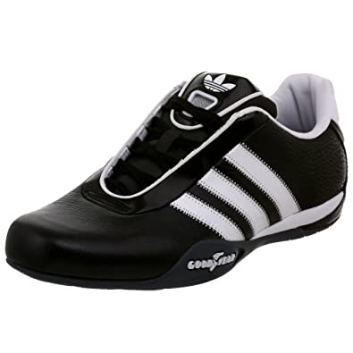 adidas Originals Men's Goodyear Race Driving Shoe,Black/White/Onix,5 M US