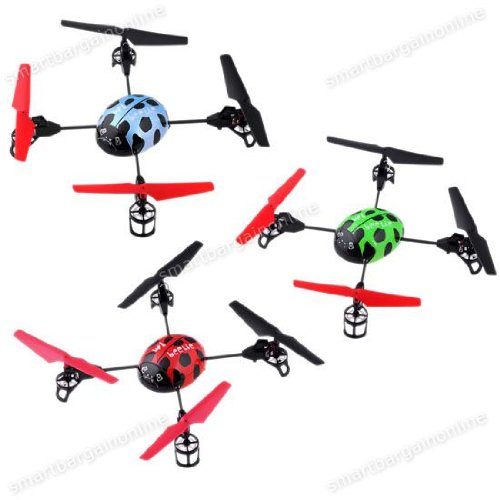 Multi Color Send Randomly Wltoys 2.4ghz Ufo X-copter 3d Quadcopter 4-axis Rc 4ch Beetle Gyro Helicopter