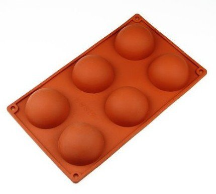 Allforhome 6 Cavities Semi circle Ball Shape Silicone Cake Baking Mold Cake Pan Muffin Cups Handmade Soap Moulds Biscuit Chocolate Ice Cube Tray DIY Mold