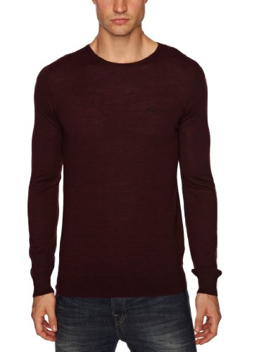 Firetrap York Men's Jumper Burgundy Marl X-Large