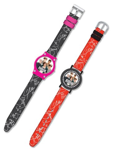 One Direction LCD Watch x 2 (1 black and 1 Red) (1 Direction Jewelry compare prices)