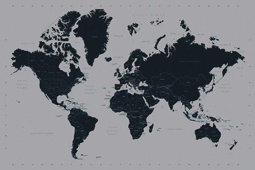 Weltkarte als Poster | Moderne Weltkarte