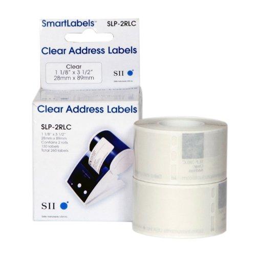28 x 89 mm Clear Address Labels