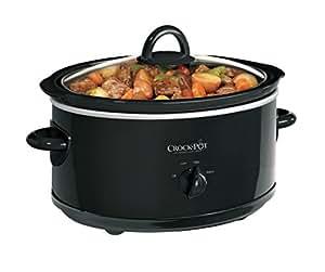 Crock-Pot Manual 7 Qt Oval Slow Cooker, Black