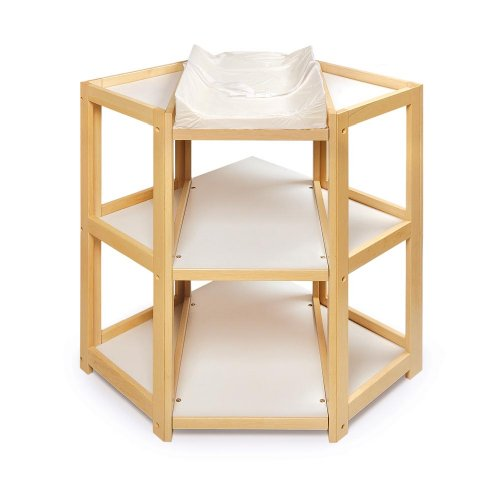 Badger Basket Diaper Corner Changing Table, Natural