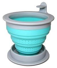 The TeaSpot Tuffy Steeper Silicone Loose Tea Filter Infuser Turquiose