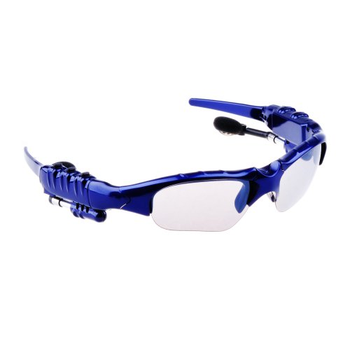 Victsing Bluetooth Headphone Sunglasses For Iphone 4 4S 5 5G Ipad 2 3 4 Ipad Mini Hands-Free Blue