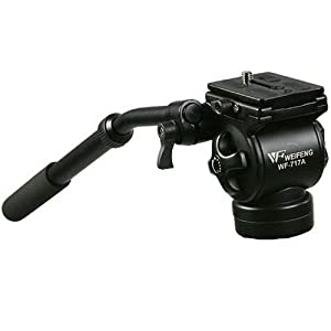 CowboyStudio EI717A Professional Video Camera Fluid Drag Tripod Head and Handle images