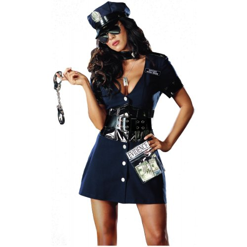 Corrupt Cop Costume - Medium - Dress Size 6-10