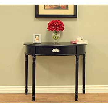 Frenchi Home Furnishing Console Sofa Table with Drawer, Black