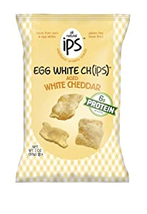 Ips The Original Egg White Chips, Aged White Cheddar, 1 Ounce (Pack of 24)