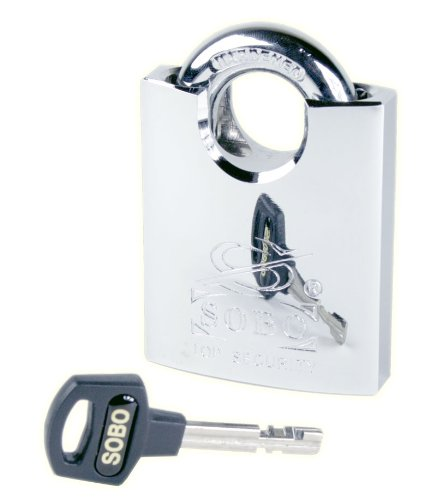 SOBO SPRS60-KA Triple Chrome Plated Shrouded Heavy Duty Padlock, Keyed Alike sobo cookbook the