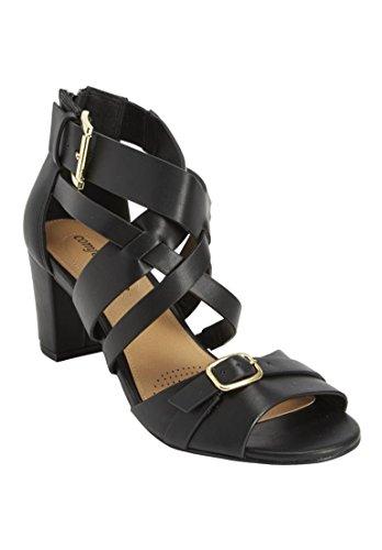 Comfortview Women's Wide Sunil Sandal Black,8