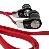 ThreadWells Red and Black, 1Meter (3.2 Feet), High Definition / Quality, Sound Isolating, Dynamic / loud / clear, In-Ear Earphones / Earbuds / headphones for Apple,iPhone 6 Plus / 6 / 5S / 5C / 4 / 4S, iPod Touch / Shuffle, Mac/ MacPro/ iMac / Air / Touch, Windows, Samsung Galaxy / Ace / Active / Alpha / S5 / S4 / S3 / Note / TabPRO, Sony Xperia, phones, tablets and other Electronic Devices