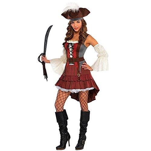 womens castaway pirate costume costumes master. Black Bedroom Furniture Sets. Home Design Ideas