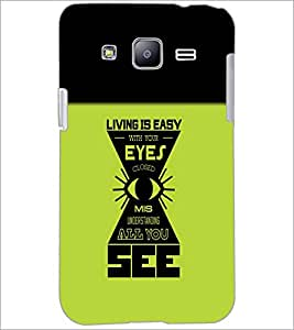 PrintDhaba Quote D-5484 Back Case Cover for SAMSUNG GALAXY J2 (Multi-Coloured)