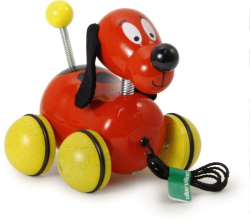 Vilac Fripouille the Pull Along Dog Baby Toy - 1
