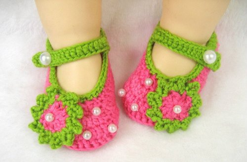 Baby girls shoes archives the baby care store the baby care store 1 pair newborn toddler baby girl crochet flower first walking shoes sandals with pearls in hot mightylinksfo