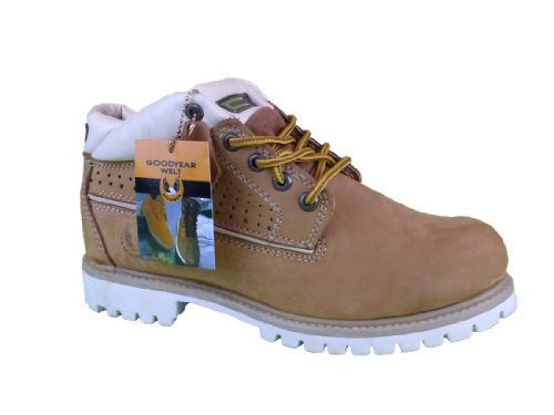 KINGSHOW Men Winter Premium Oxford Snow Leather Boots US Size:9