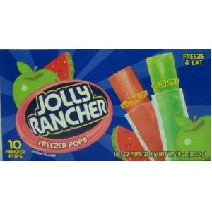 Jolly Rancher Freezer Pops 10 Ct Package (Pack Of 2) front-792300