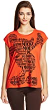 Disney by Genes Women's Animal Print T-Shirt (CHD15-046KTBLO_Volcanic_Small)