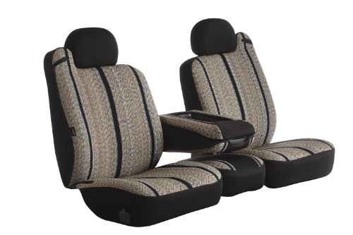 Fia TR49-11 BLACK Custom Fit Front Seat Cover Split Seat 40/20/40 - Saddle Blanket, (Black) (02 Dodge Ram Center Console Cover compare prices)