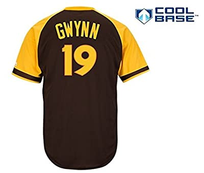 Tony Gwynn San Diego Padres #19 MLB Hall of Fame Men's Cool Base Cooperstown Pullover Jersey