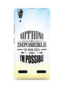 AMEZ Nothing is Impossible Back Cover For Lenovo A6000