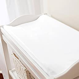Carousel Designs White Pique Changing Pad Cover Contoured Style