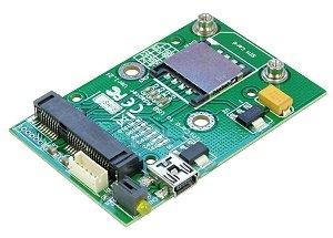 USBMA-MODULE : 無線通信MiniCard用USBモジュール ver1.2f  3G/LTEモデムなどのUSB接続のmPCIe/MiniCard型無線通信モジュールをUSBポートで利用可能。ケースのないモジュールタイプで、デバッグに最適。mPCIeモジュール下にSIMカードスロットを配置、プッシュ・プル式でSIMカードを安定して配置可能。mPCIeスロットはフルサイズ・ハーフサイズの両対応、mPCIeモジュールのサイズにかかわらず利用できます。LED搭載で通信状態が目視確認できます。ECLINKおよびユニ・ブリッジ取扱品はビープラス・テクノロジー経由の純正品・正規品です。